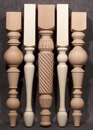 Gambe per tavoli in legno con bellissimo modello decorativo a corda intrecciata al centro